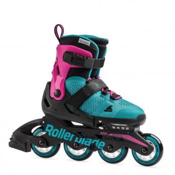 Детские раздвижные роликовые коньки Rollerblade Microblade G Pink Emerald Green