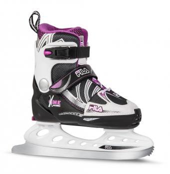 Детские раздвижные  ледовые коньки FILA X-ONE ICE Blk/Magen