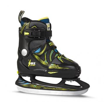Детские раздвижные  ледовые коньки FILA X-ONE ICE BLK/blur/yellow