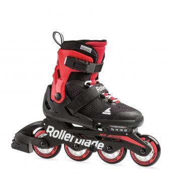 Детские раздвижные роликовые коньки Rollerblade Microblade Black Red