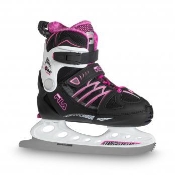 Детские раздвижные  ледовые коньки FILA X-ONE ICE G black/white/magenta