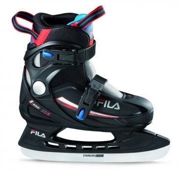 Детские раздвижные  ледовые коньки FILA J-ONE ICE Hr Black/Blue/Red